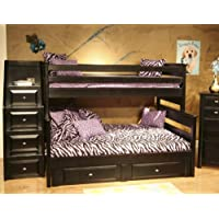 Twin Over Full Bunk Bed with Storage and Stairway Chest