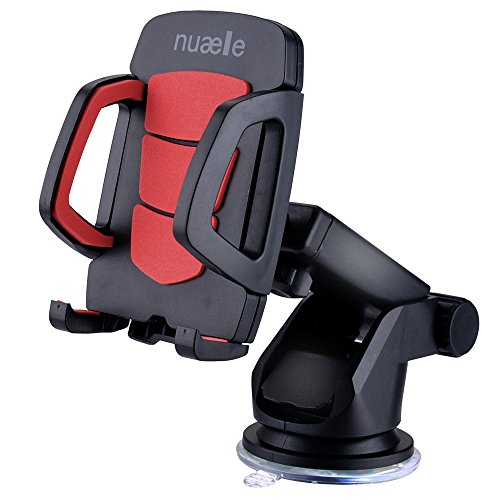 Cell Phone Car Mount Holder Stand Dashboard/Windshield, Nuaele Universal Car Phone Mount Support iPhone X 8/7/7P/6S/6 Plus/5S/5/5c/SE/4/4s, Samsung Galaxy S8, LG, HTC and other (Optional Stands Universal Stand)