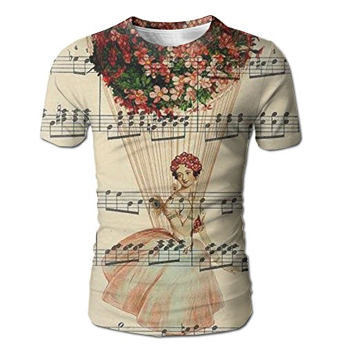 Musical Note Music Tops Short Sleeve T-Shirt Diverting Dry Fit For Men Valentines - Noten Van Men Dries