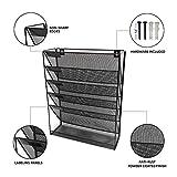 Wall File Organizer 5 Tier 6 compartments Black