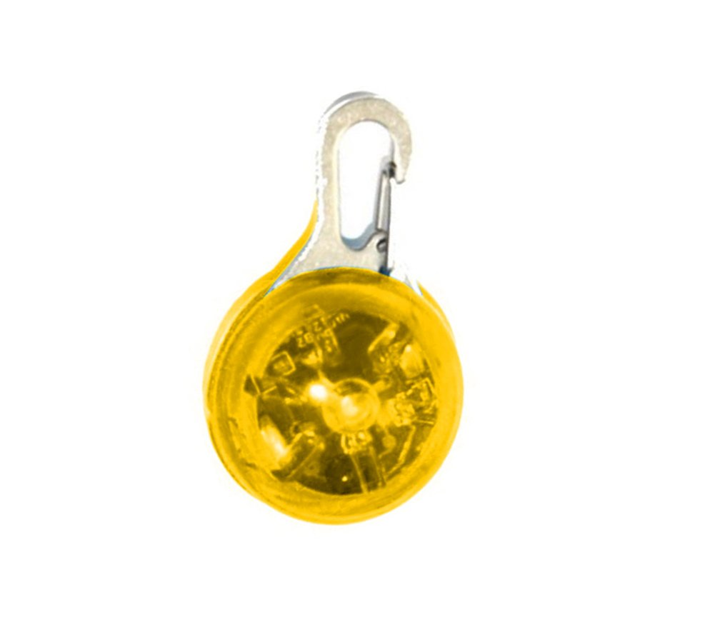 Cdet Perro mascota intermitente LED colgante anti-perdida Clip-on circular collar, Blanco