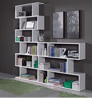 Ciara 6 Tier Light Oak Open Bookcase Tall Narrow Room Divider