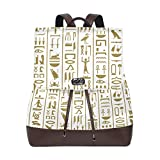 Women's Leather Backpack Vintage Africa Shoulder Purse Travel School Lady Bag