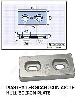 Tecnoseal Placa-Casco con Trabillas L mm: A 69 mm, 151 mm, Altura de 25 mm, 75 mm, 13 X 25 Kg 1,520 520