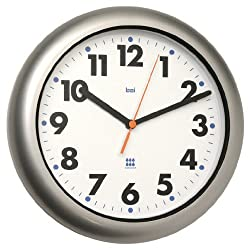 Bai Aquamaster Weatherproof Wall Clock, Silver