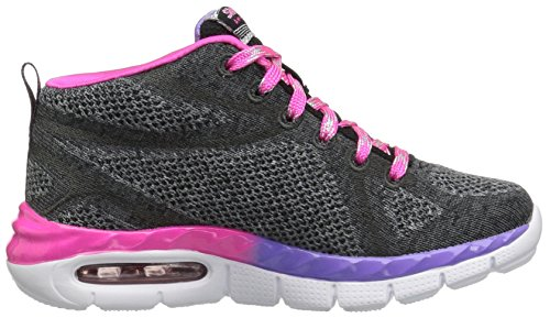 Skechers Mädchen Air-Appeal-Breezin' By Hohe Sneakers, Grau (Blvp), 28.5 EU