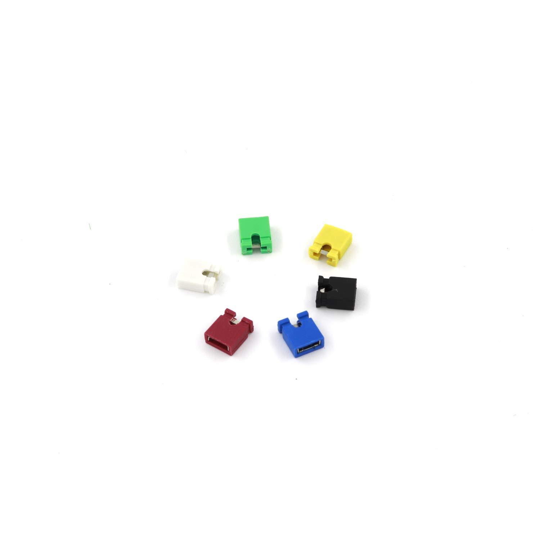 ARCELI 6 color Each color 100 PCS 2.54mm Standard Circuit Board Jumper Cap Shunts Short Circuit Cap
