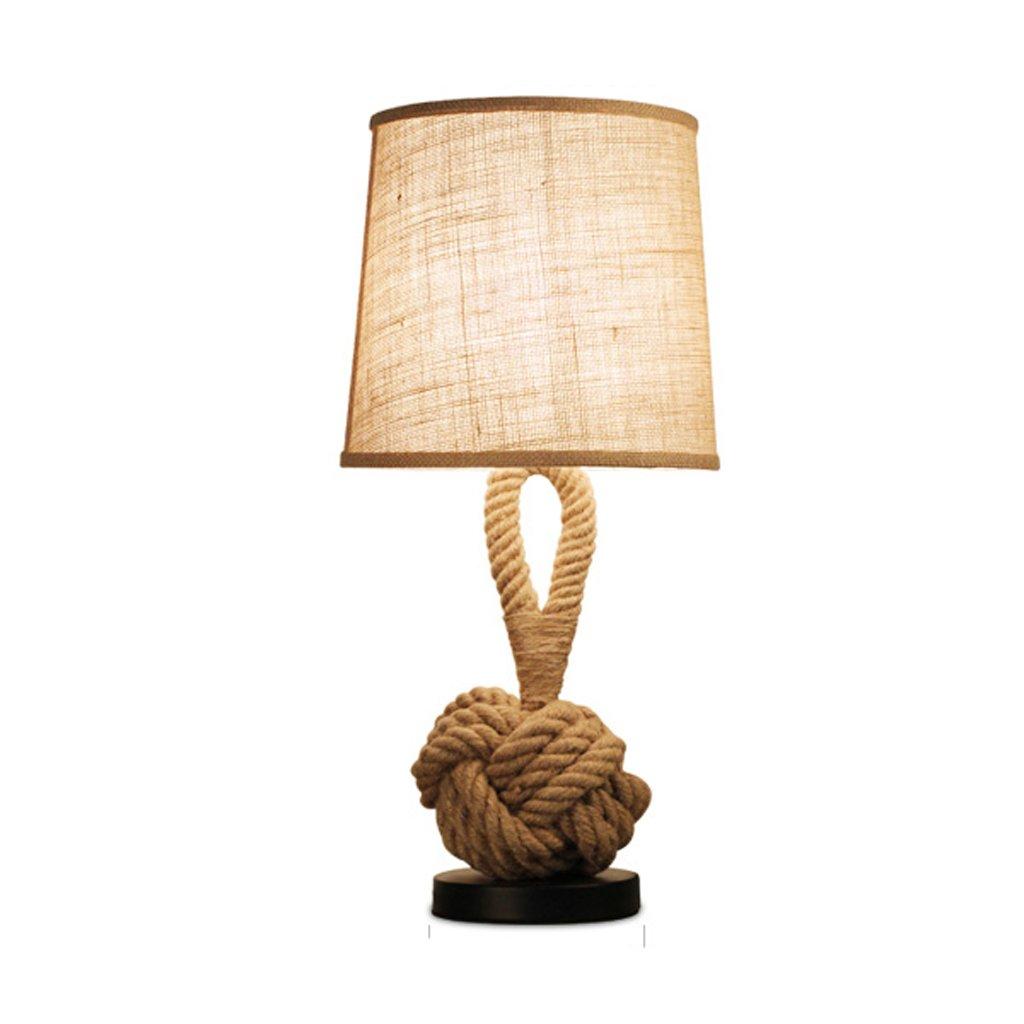 Garanzia del prezzo al 100% Personalità semplice La canapa lampada da tavolo American Village di di di personalità Studio Desk Lamp Decoration  saldi
