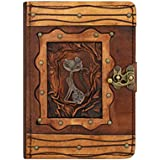 Happy Cat Pendant iPad Mini 4 Case Cover Flip Stand Vintage Real Genuine Leather Hardcover Wallet Po