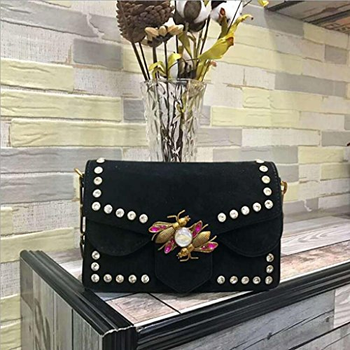 Femme Messenger 14cm Noir Sac en à Rivet 5 bandoulière 5 Scrub Nouveau Main 6 Lady Cuir Sac Générique Bag 21 à Taille Bag qB6ppt
