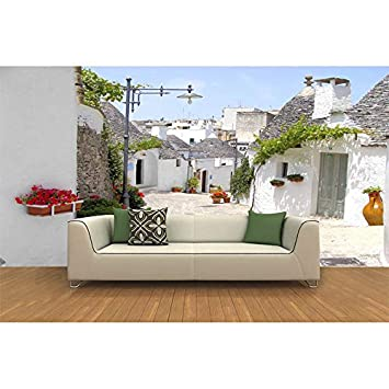 Custom Any Size Mural Wallpaper Living Room 3D Painting Retro House Alley TV