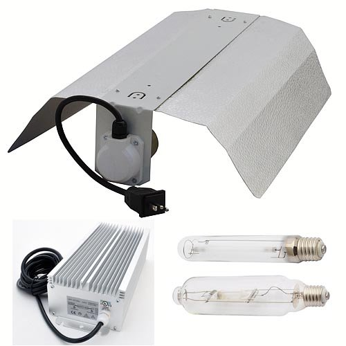 LEDwholesalers GYO2004 4-Piece 600 Watt Hydroponic Reflector Grow Light Set by LEDwholesalers