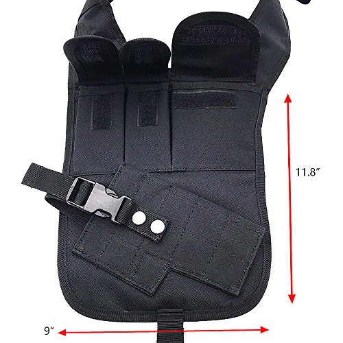TEKCAM Tactical Underarm Shoulder Gun Holster Adjustable Concealed Armpit Pistol Holster with 5 Pouches for Outdoor Activities by TEKCAM (Image #1)