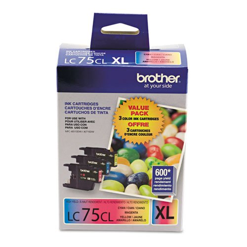 Brother 3pk Lc753pks Cyan Magenta Ylw Ink For Mfc-J6510dw...