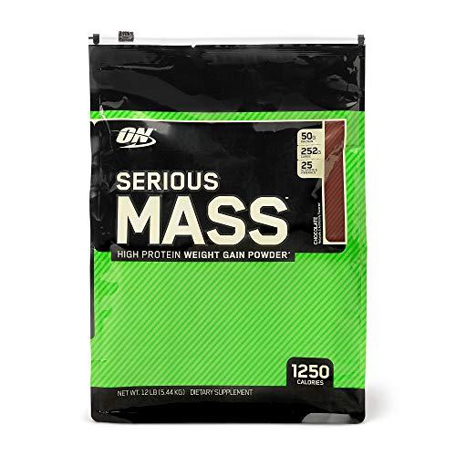 OPTIMUM NUTRITION Serious Mass Weight Gainer Protein Powder, Chocolate, 12 Pound