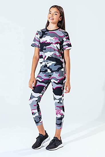 Multi Hype Kids Pink Line Camo Leggings