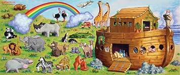 Amazoncom Wall Dolls Noahs Ark Wall Decals Home Kitchen - Wall decals noah's ark