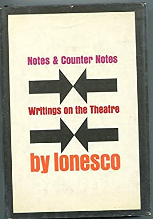Eugene Ionesco Notes & Counter On Theatre Signed Autograph 1st Edition