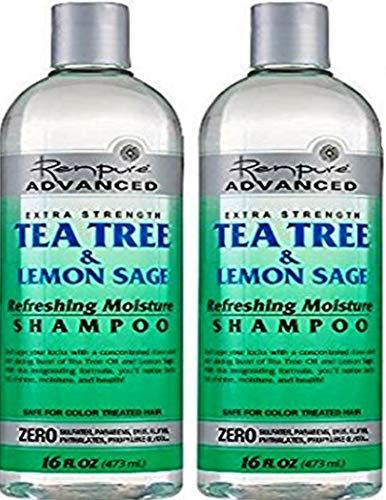 Refreshing Moisture - Renpure Advanced Extra Strength Tea Tree & Lemon Sage Refreshing Moisture Shampoo 16oz (Pack of 2) Renpure