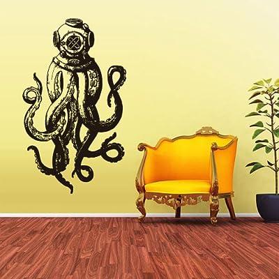 Wall Vinyl Sticker Decals Decor Jellyfish Octopus Deep Sea Ocean Fish Scuba Tentacles (Z1589)