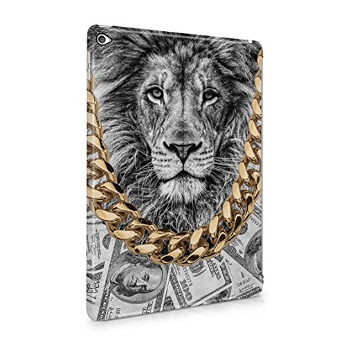 Gold Chains Lion King Cash Billionaire Luxury High Life Swag Dope Trill Plastic Tablet Snap On Back Case Cover Shell For iPad Air 2 (Chain 5600)