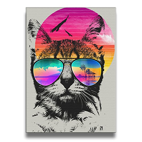 [ReBorn Summer Cat Frameless Decorative Painting For Home Office Decor] (Blue Ghost Pill Costume)