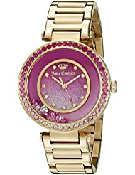 Juicy Couture Womens 1901404 Cali Analog Display Japanese Quartz Gold Watch