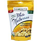 Sun-Dried White Mulberries ~ Healthy Snack ~ No Sugar Added ~ USDA Organic ~ 10 oz