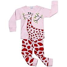 BELLELILI Toddler Girls Christmas Pajamas Set Owl Print Cotton Kid Pjs Sleepwear