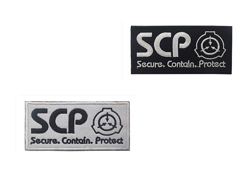 2 Pieces Scp Foundation Special Containment Procedures Foundation Logo Military Hook Loop Tactics Morale Embroidered Patch Color3