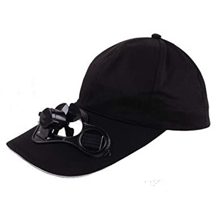 efb09ee4b40 Image Unavailable. Image not available for. Color  Pestelley 5 Colors Solar  Power Fan Hat Cap ...