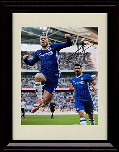 Eden Framed - Framed Eden Hazard Autograph Replica Print - Team Belgium World Cup