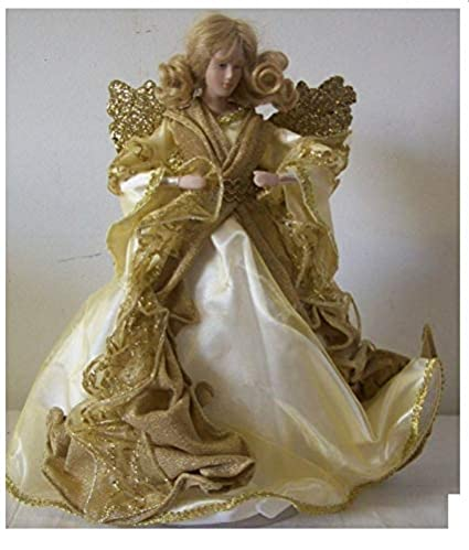d87dfde396 Amazon.com  Dillards Golden Angel Christmas Tree Topper 12