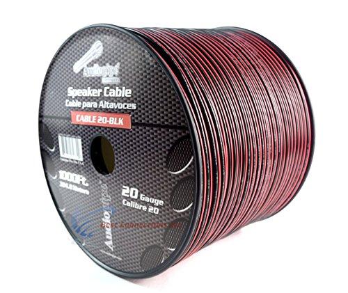(20 Gauge 1000' Speaker Cable Wire Copper Clad Red Black 12 Volt Audiopipe)