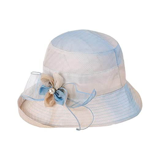 d87dac3c37678 Foluton Women Beach Hat Summer Sun Hat UV Protection Cloth Cap Foldable  Elegant Floppy Hat Classic