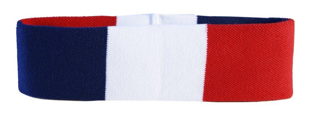Flaggenfritze® Stirnband mit Frankreich Flagge