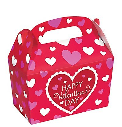 Gourmet Treat Box (Bright Valentine's Day Treat Boxes 5 Count)
