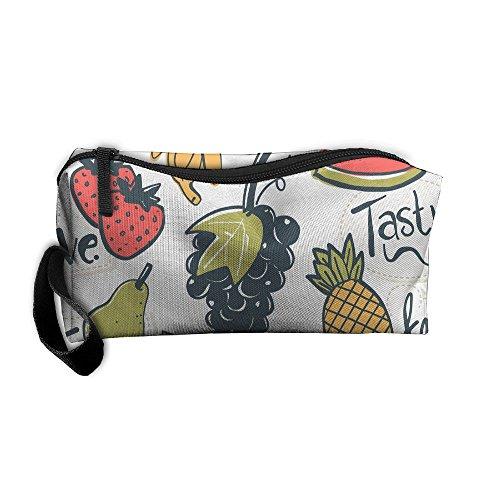 (Portable Make-up Receive Bag Natural Fresh Fruit Travel&home Storage Bag Zipper Organization Space Saver Canvas Buggy)
