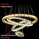 ANDP LED chandelier ceiling light chandelier round 4 amber crystal transparent Crystal , 110-120v