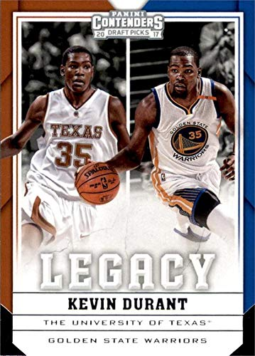 Kevin Durant Autographed Basketball - Kevin Durant Basketball Card (Texas Longhorns, Golden State Warriors) 2017 Panini Contenders Legacy Draft Picks insert #21
