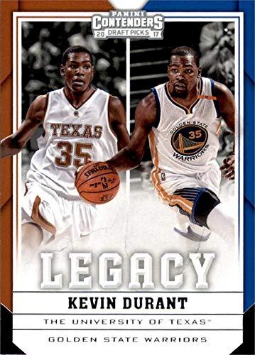 - Kevin Durant Basketball Card (Texas Longhorns, Golden State Warriors) 2017 Panini Contenders Legacy Draft Picks insert #21