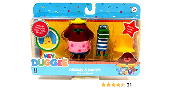 Hey Duggee Dress-Up 14 cm Figure Set Inc 5 chapeaux 4 faces 6 badges /& 4 Accessoires