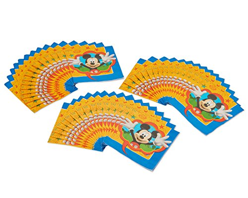 American Greetings Mickey Mouse Party Supplies, Paper Lunch Napkins, 48-Count