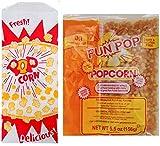 Popcorn kit with popcorn kernels, coconut oil, salt and bags | 6- 4 oz...