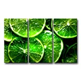 So Crazy Art 3 Piece Green Wall Art Painting Lime Citrus Green Prints On Canvas The Picture Food Pictures Oil For Home Modern Decoration Print Decor