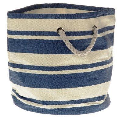 Tejido grande notebookbits brandco/estilo náutico redondo azul y crema de bañera con cuerda toreinforced