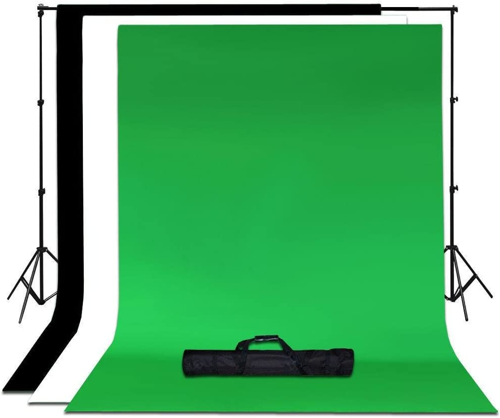 Tableclothsfactory 600 Watts Photo Studio White Umbrella Continuous Lighting Kit with Backdrops