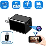 Hidden Camera Charger, Ruidla Spy Camera 1080P HD Wifi Home Office Security Camera Monitoring with Motion Detection Nanny Surveillance Camera