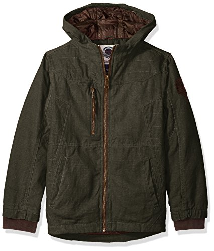 - Urban Republic Big Boys' Cotton Canvas Jacket, Olive, 10/12