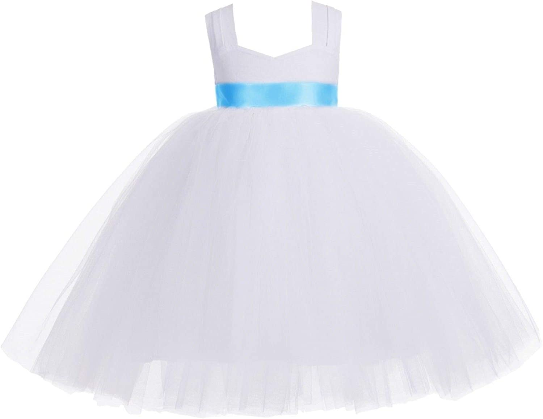 ekidsbridal White Sweetheart Neck Cotton Top Tutu Junior Flower Girl Dress Holidays 171R